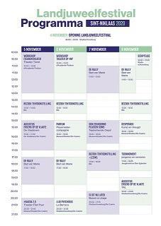 Programma-overzicht Landjuweelfestival 2020